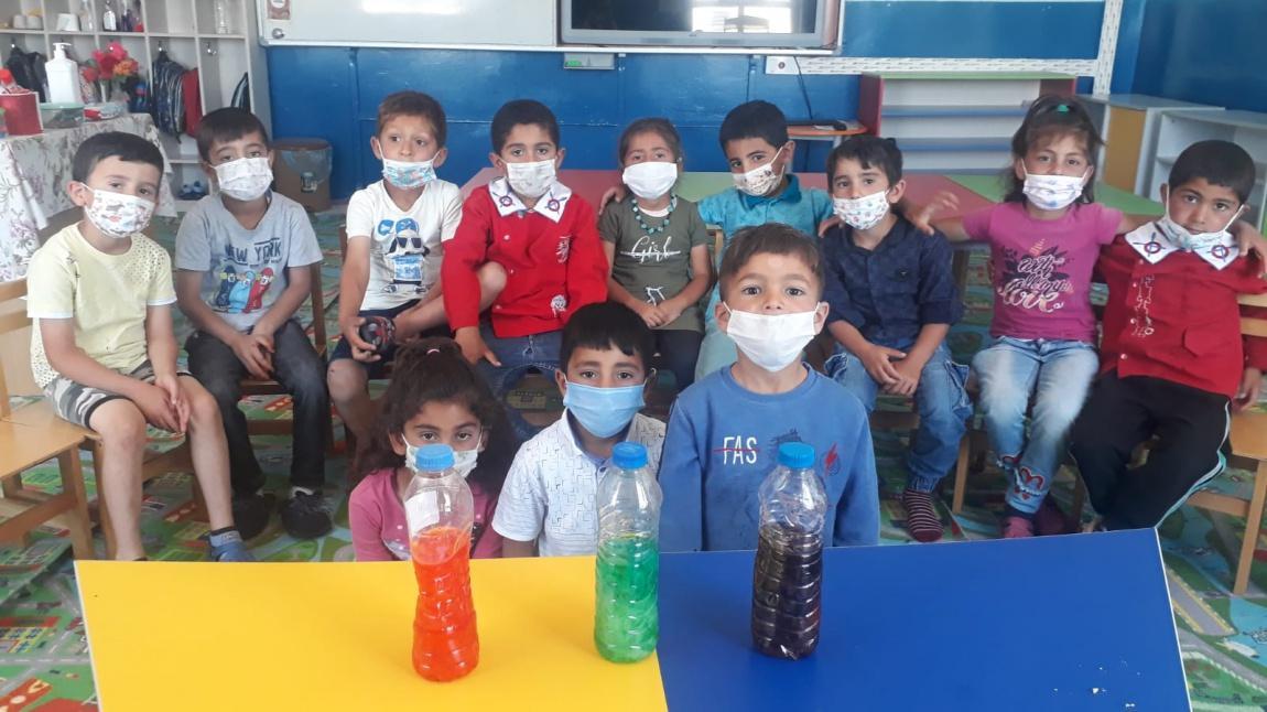 Anasınıfı Öğrencileri Ana-Ara Renkler Çalışması Yaptılar