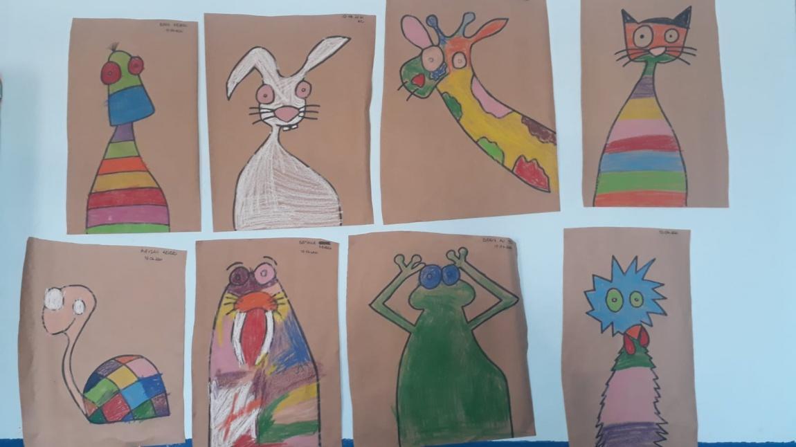 Anasınıfı Öğrencileri Renkli Hayvanlar Etkinliği Yaptılar